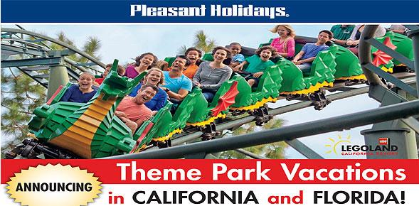 Pleasant Holidays launches theme park vacations in California and Florida with Agent Incentive and Free Car Rental